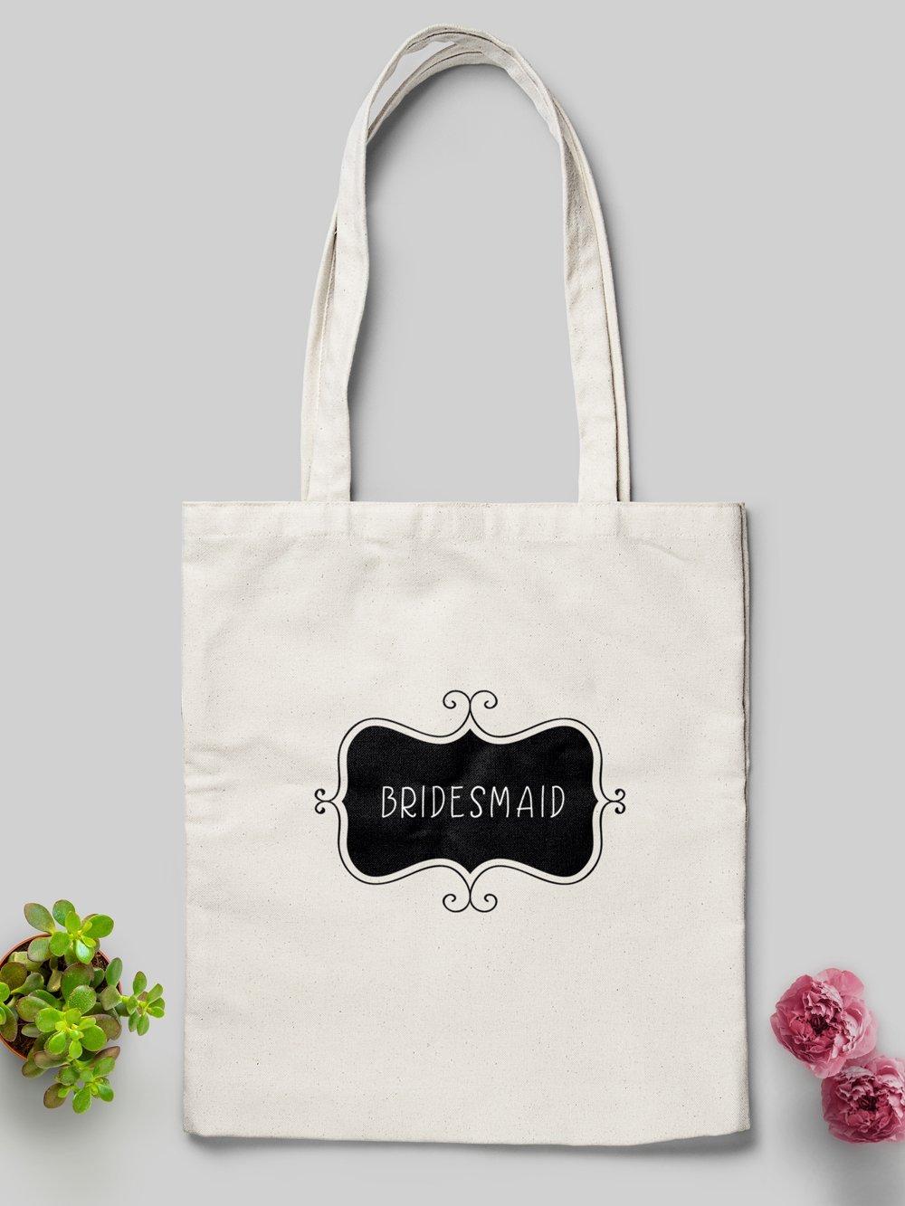 Bulk Custom Tote Bags - 10x Personalised or Set Design - Perfect Wedding Bags or Tote Bags for Bridesmaids, Parties or Events - handmade-bags