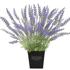 Longyitrade – 1 ramo de flores artificiales de lavanda para decoración del hogar o boda