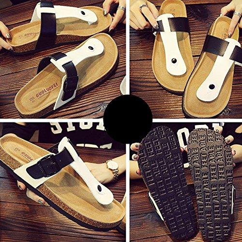 Maschili 38 Grandi Clip A Pantofole Della Legno Punta C Rilassato colore Pantofole Zhangrong qxwEfAPx