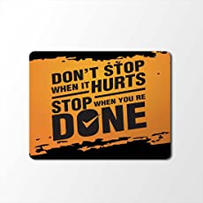 100yellow Motivational Quotes Designer Mouse Pad/Designer Waterproof Coating Gaming Mouse Pad