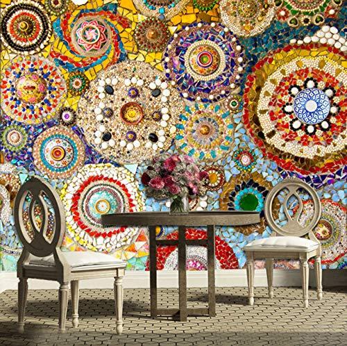 Mosaik Fliese Abstrakte Kunst Wandmalerei Wohnzimmer Tv Hintergrund Tapeten Papier Peint Wandbild 3D, 300X210 Cm ()