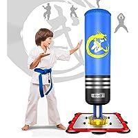 Dripex Sac de Frappe sur Pied Boxe Enfant Debout Libre Robuste Sac de Punching Kick Appareil d'entraînement