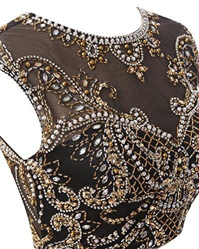 Bbonlinedress Robe courte de soirée de cocktail Robe de bal deux pièces emperlée Lilas