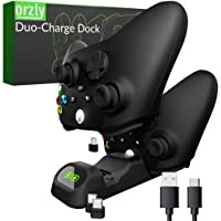 Orzly Duocharger for Xbox Series X|S controller charger Twin stand Dock, Stadia, Playstation 5 & Nintendo Switch USB Type-C - Stealth Black…
