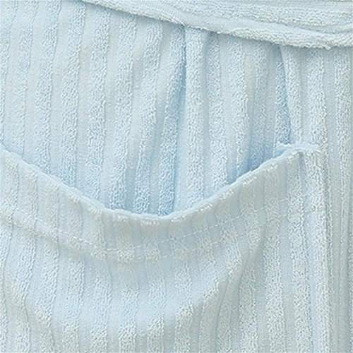 CHUNHUA Peignoirs de bain robe de dames Terry linge bain vêtements fumante abritent des vêtements , blue , l/xl Blue