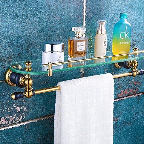 AiRobin-Continental Messing Wand Badezimmer Glas Regale Badezimmer Zubehör