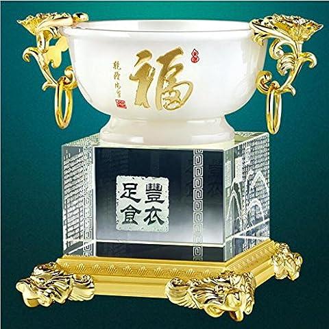 Artisanat Bain de Jade Décoration en verre Cristal créatif Décoration intérieure Mobilier de bureau Cadeau haut de gamme Cadeau Collection