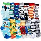Lictin 14 Paires de Chaussettes Antidérapants Unisexes pour les Bébés de 1 - 3 Ans