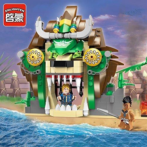 Ingenious Toys Gli Aztechi prigione 2 figure mini & funzionale cancello / 328 pz compatibile con elementi costitutivi #1308