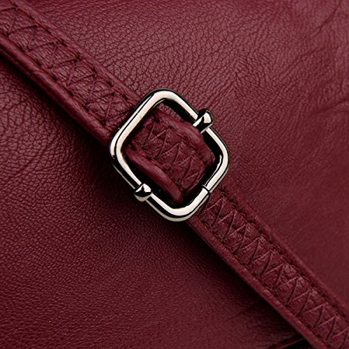 ZPFME Womens Tote Borsa Borsa A Tracolla Shopper Cuoio Party Retro Banchetto Retro Borsa Donna Purple