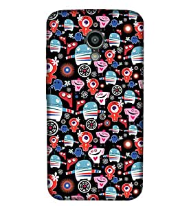 Moto G3 Mustach Illustration Phone Back coverGI81