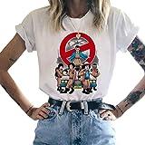 Tee Shirt Stranger Things Fille, T-Shirt Stranger Things Femme Eleven Enfant Ado Fille Ringer T-Shirt Été Manche Courte Shirt