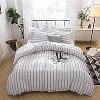 Merryfeel Juego de fundas de edredón nórdico y de almohada (100% algodón) - 260x220cm y 2 fundas 50x75cm
