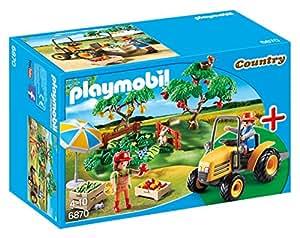 Playmobil - 6870 - Jeu - Couple de Fermiers avec Véhicule