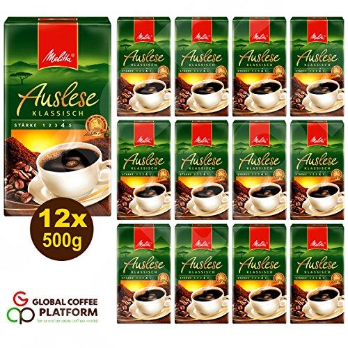 Melitta Auslese klassisch Filterkaffee 12x 500g (6000g) - Melitta Café gemahlen
