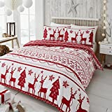 Best Duvet Covers - Happy Linen Co Festive Scandi Nordic Christmas Red Review