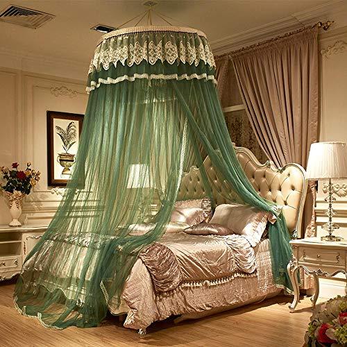 gjm Moskitonetz Polyester Kuppel Hängend Bodenständig Bettüberzug Kostenlose Installation Bettvorhang Jade -