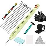 ATOMUS Hand Poke en Stick Tattoo Kit 10 Stuks Tattoo Inkt Cup Levering Hand Poke Pen 3RL 5RL 7RL 9RL Tattoo Naalden Bandages