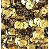 bastelkoerble Pailletten in Gold Hologramm 4000Stück, 6mm gewölbt