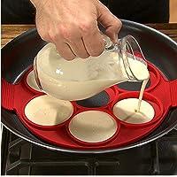 Pancake Silicon Stampo Circolare Uova Fritte Forme Non Del Bastone Flippin Cr ecirc pi egrave re Perfetto Uova Forma Strumenti Cooking Cup Uovo