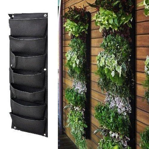 Meiwo 7 Pocket Hanging Vertical Garden Wall Planter For