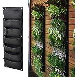 Meiwo 7 bolsillo colgante jardín vertical jardín plantador de jardinería jardín decoración del hogar