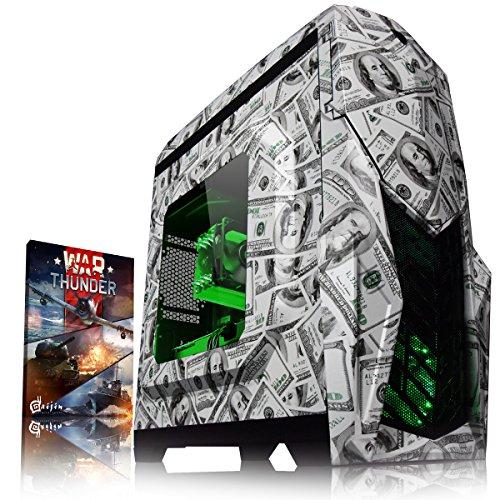 VIBOX Dollah GL560-8 Gaming PC Computer mit War Thunder Spiel Bundle (4,3GHz Intel i5 6-Core Prozessor, Nvidia GeForce GTX 1060 Grafikkarte, 8Go DDR4 RAM, 120GB SSD, 2TB HDD, Ohne Betriebssystem)