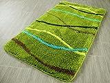 Pacific Badteppich Nevis Grün Streifen in 5 Größen