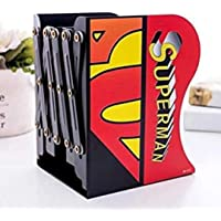 Prezzie Villa Pack of 1 Superhero Adjustable Bookends for School and Office Desk in Random Colour and Design