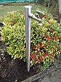 Wasserzapfstelle Edelstahl Wasserzapfsäule Wasserverteiler 85cm WS4285