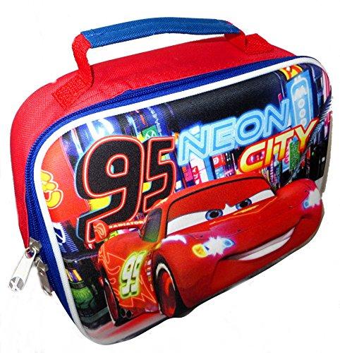 Image of Boys Disney Cars Lightning McQueen Magic 3D School Lunch Travel Bag