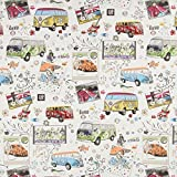 Fabulous Fabrics Gobelin VW Bus — Meterware ab 0,5m —