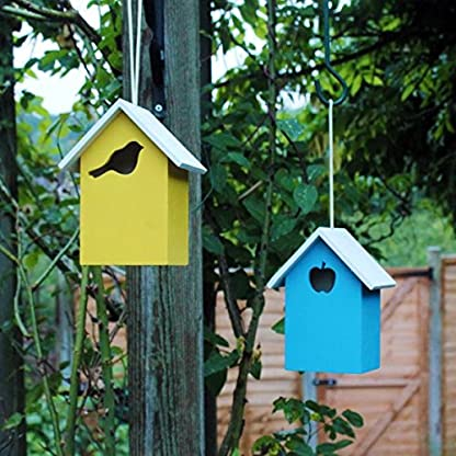 garden mile® Colourful Novelty 3 In 1 Garden Bird Houses Highly Detailed Predator Proof Bird Nesting Boxes For Small… 8