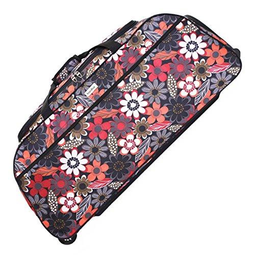 Karabar Budva XL sac à bagages à roulettes, Fleurs roses