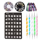 Kit de Nail Art Manucure Autocollants à Ongles-Diamant...