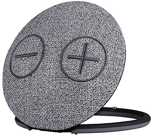 Imperial 22-9056-00 Bas 3 mobiler Wireless Stereo-Lautsprecher (Bluetooth 4.1, Oberfläche aus Gewebter Baumwolle, microSD-Kartenleser, Aux-In, 2X 5Watt) dunkelgrau-schwarz