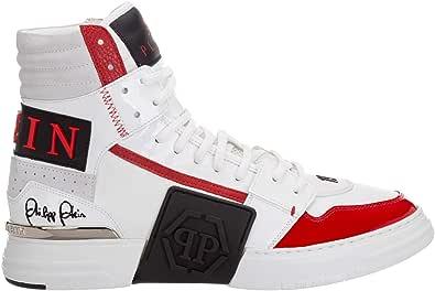 PHILIPP PLEIN Sneakers Alte Phantom Kick$ Uomo White/Red