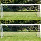 Wollowo - Ersatznetz für Fußballtore - Professionelle Größe - 7,32 x 2,44 m (24 x 8 ft) - 2 Stück