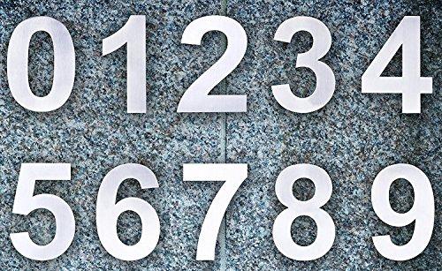 QT Moderne Hausnummer -Größe: 15 Zentimeter (Nummer 2 / Zwei) Gebürsteter Edelstahl - 4