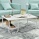 SoBuy® Mesa de centro para el salón ,Mesa de café,mesa de cocina, FBT41-W,ES