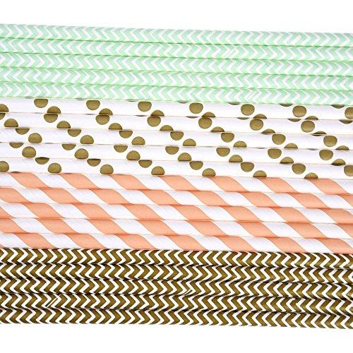 Papier Trinkhalme 100 Stück