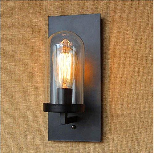 JLXMZX Applique Murale Lampe de Mur de Chambre à Coucher rétro éolienne Industrielle Edison Applique/Taille: 15 * 35 (CM)