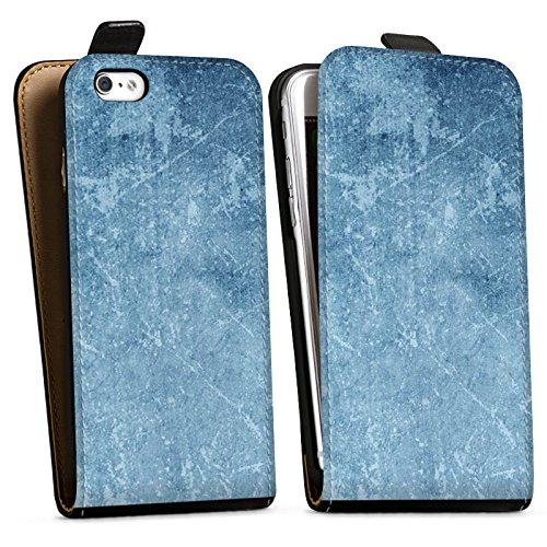 Apple iPhone X Silikon Hülle Case Schutzhülle Muster Blau Kratzer Struktur Downflip Tasche schwarz