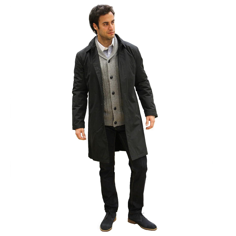 Carter &amp Jones Men&39s Rain Coat- Black: Amazon.co.uk: Clothing