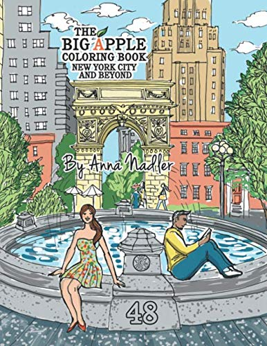 The Big Apple Coloring Book, New York City and Beyond: 48 Unique Illustrations of New York for you to color by hand. - Radio City Music Hall Manhattan