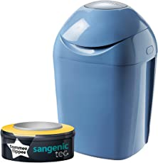 Tommee Tippee Sangenic Tec Nappy Disposal Tub - Raindrop Blue