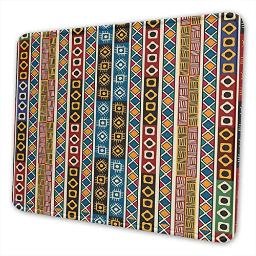 Luancrop Gaming-Mauspad ethnischen afrikanischen Stammes-Dekor Motive Kunst Rechteck rutschfeste Gummi-Mauspads Mousepad Matte für Computer Laptop Office Home -