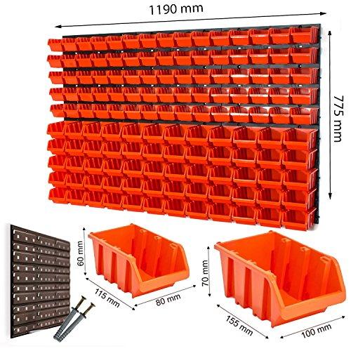 Stapelboxen mit Wandhalterung im Set