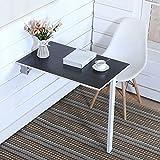 Wand-Drop-Blatt Tisch Klapp Esstisch Computer Schreibtisch Kaffee Space Saver Falten Schwarz (Größe : 80 * 40cm)