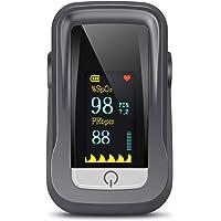 Saturimetro Da Dito, Pulsossimetro Professionale con Omnidirezionale TFT Display con Letture Immediate Ossimetro per…